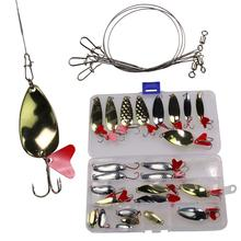 28pcs/box Fishing Spoons Set Jig Lures Metal Spinner Hard Baits Tackle for Trout Bass Salmon Pesca