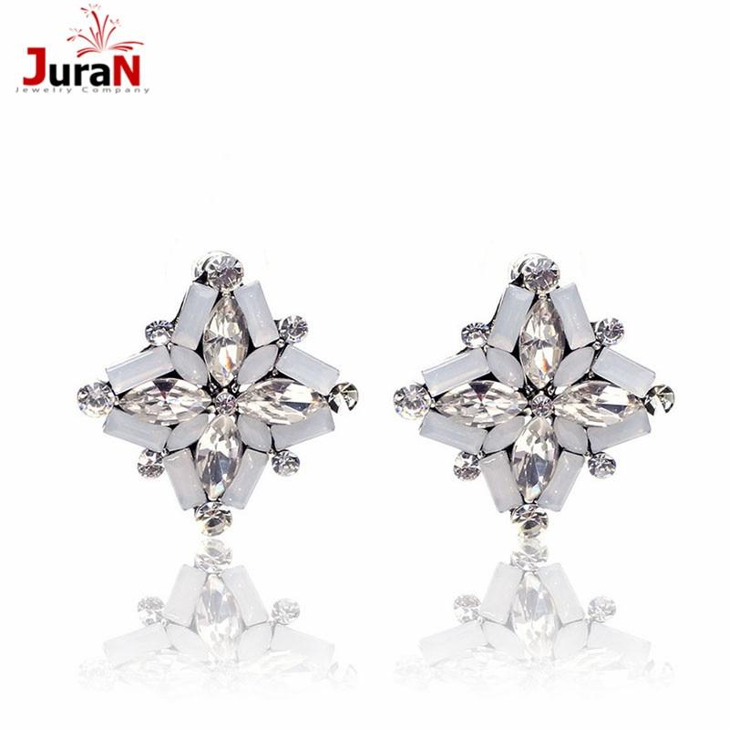 d82ac1aebd26 Juran buena calidad 2018 nueva declaración de moda pendientes de cristal  para las mujeres del pendiente de la boda del partido regalo de Navidad  W1309