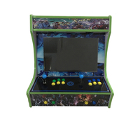 19 Inch LCD Desk Arcade Game Machine With Game 645 In 1 Jamma Board 2 Player