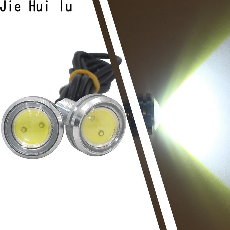 1Pcs LED Drl Eagle Eye 23mm Waterproof Cob 12v 9w Led Car Light Daytime Running Lights Styling Auto Fog Lights Parking Backup