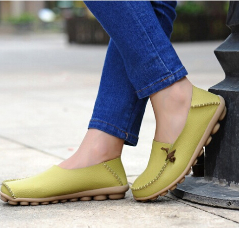 Free shipping Women Genuine Leather Mother Shoes Moccasins Women's Soft Leisure Flats Female Driving Shoes Flat Loafers 4 colors genuine leather baby shoes lace up toddler baby moccasins mixed colors boys shoes first walkers free shipping