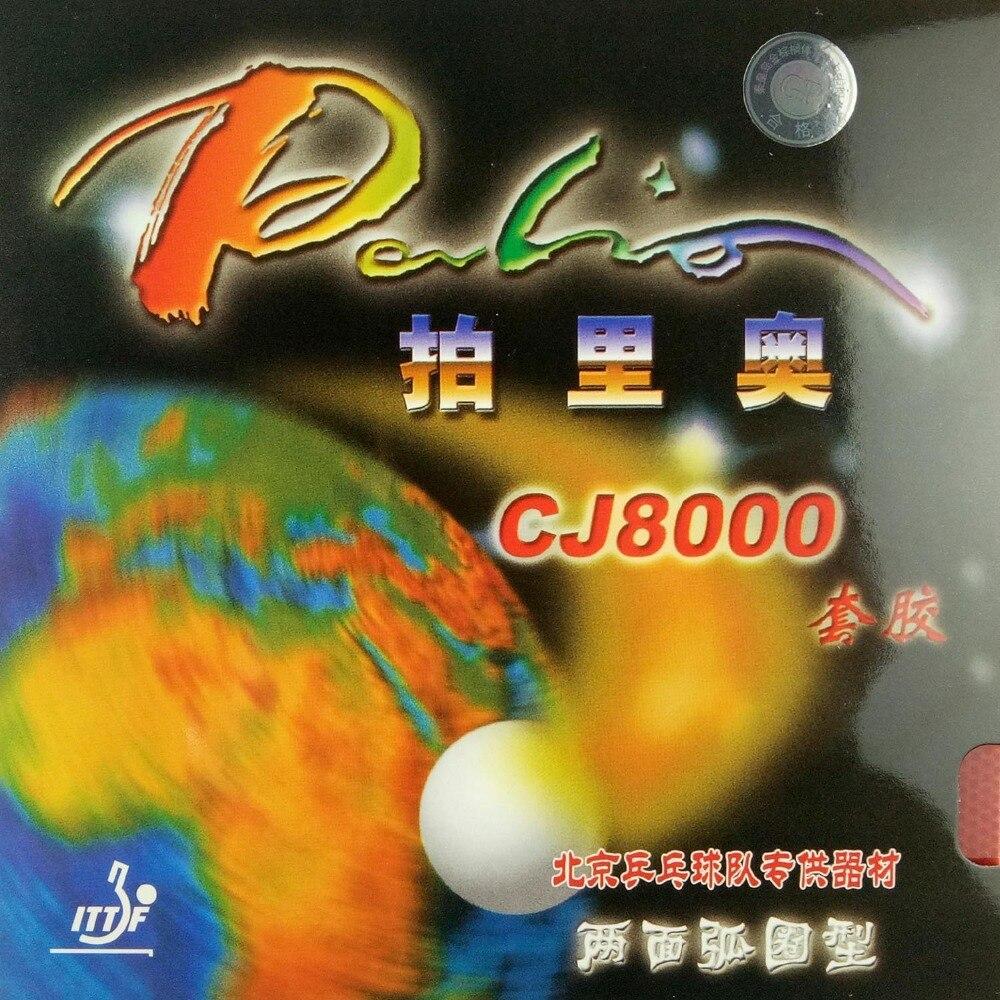 Palio CJ8000 (Tipo Loop 2-Side) pips-no tênis de mesa/borracha de pingue-pongue com esponja (H36-38)