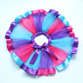 Girls Candy Rainbow Brights Fun Tutu Tulle Petti Skirt Infant 1T 2T 3T 4 5 6 7 8 Years Photo Prop Party Wear Blue Pink Purple