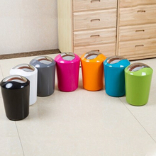 Topsky Household Rocking Cover Plastic Trash Cans,Bedroom,Bathroom,Kitchen,Living Room,Cover,Paper Basket