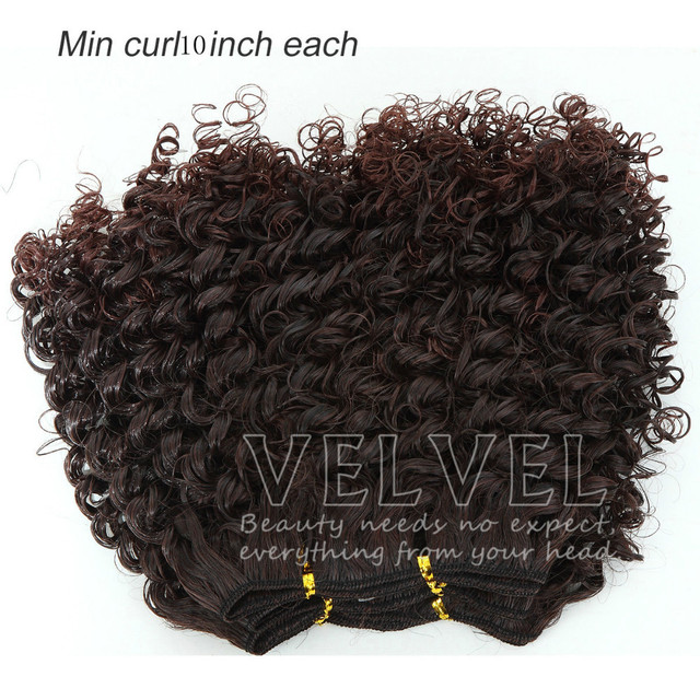 """1PC+Free Shipping Noble Tango 3pcs 10"""" ColorT1B/33 Min Curl Synthetic Hair Extension Ombre Hair Extensions Synthetic Hair Weaves"""