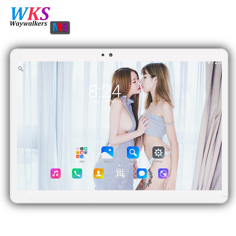 2018 newest 10.1 inch tablet pc Android 6.0 RAM 4GB ROM 32/64GB Dual SIM Bluetooth GPS 1920*1200 IPS tablets pcs free shipping