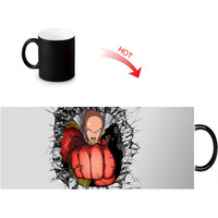ONE PUNCH-MAN printed color changing mugs home porcelain tea milk cup personalized ceramic water coffee morph mug 12oz 3