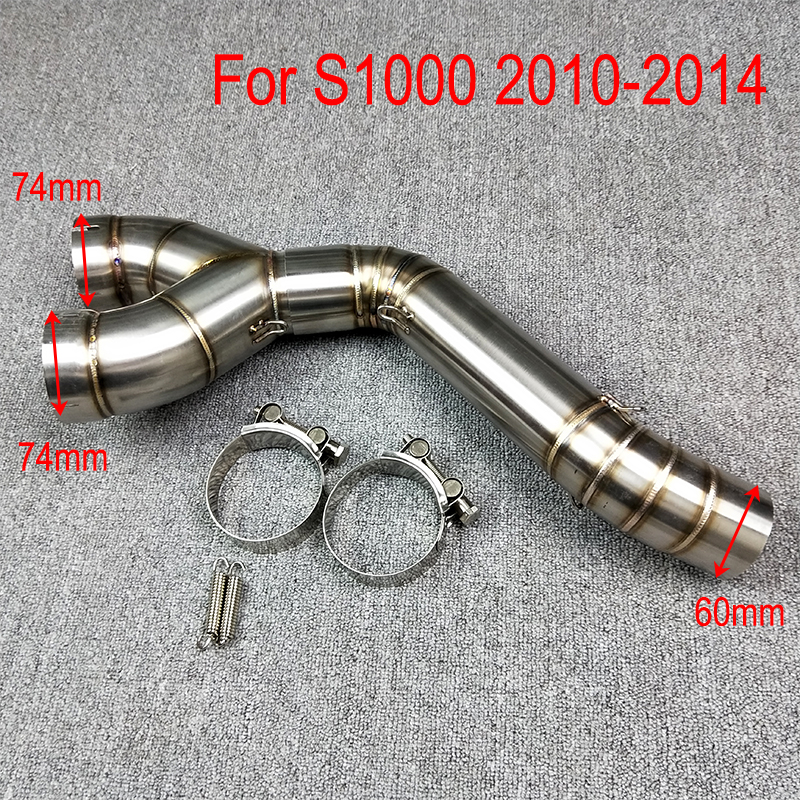 For BMW S1000RR 2010 2011 2012 2013 2014 2015 Motorcycle Scooter Exhaust Middle Pipe Muffler Full System Modified Stainess Steel dirt bike racing motorcycle exhaust pipe middle muffler exhaust pipe for yamaha yzf r1 yzf r1 2009 2010 2011 2012 2013 2014