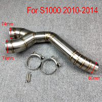 For BMW S1000RR 2010 2011 2012 2013 2014 2015 Motorcycle Scooter Exhaust Middle Pipe Muffler Full