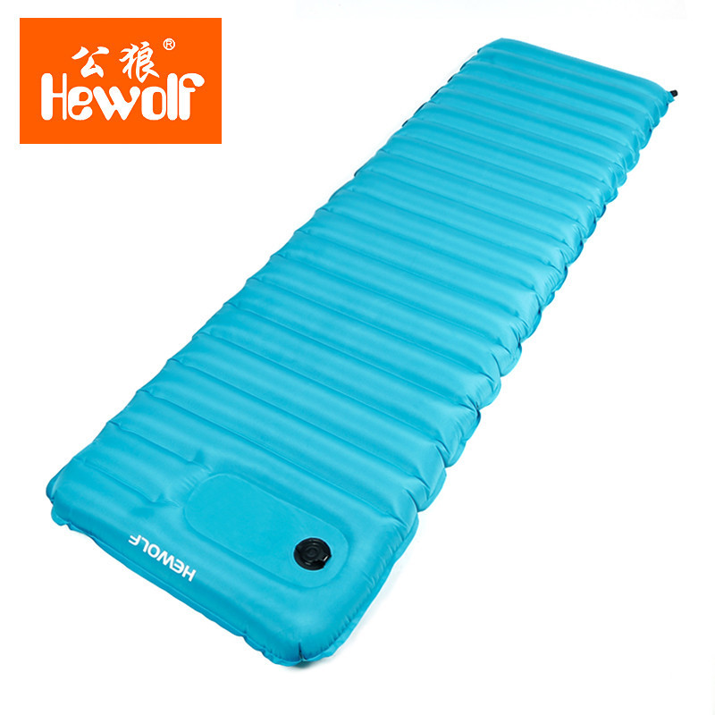 Hewolf Outdoor Lightweight Inflatable Air Mat Inflator Mattress Water Games Sleeping Bed Camping Tent Picnic Waterproof Pad free shipping 10 2m inflatable air track inflatable air track inflatable gym mat trampoline inflatable gym mat