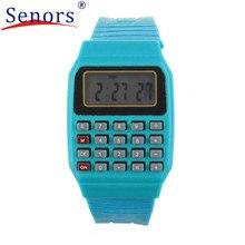 HL2016 New Silicone Date Time Electronic Wrist Calculator Baby Watch For Kids Children's Digital masculino relogio feminino SP22