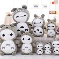 Candice guo Hot sale big white fat Baymax changed to Totoro Plush Toys Stuffed Dolls children