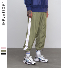 Inflacja Side Reflect lekka taśma Jogger spodnie Sportswear Vintage spodnie 2018 nowe mody casual spodnie marki Odzież 8880W tanie tanio Mężczyzn Pełna długość Elastyczna talia Nylon spandex Inflacji Połowie Sukno Płaskie Kieszenie Midweight Ulica High Street