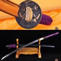 HOHE QUALITÄT JAPANISCHEN SAMURAI SCHWERT KATANA SHARP FULLTANG KLINGE KANN BAUM GESCHNITTEN Schwerter Heim und Garten -