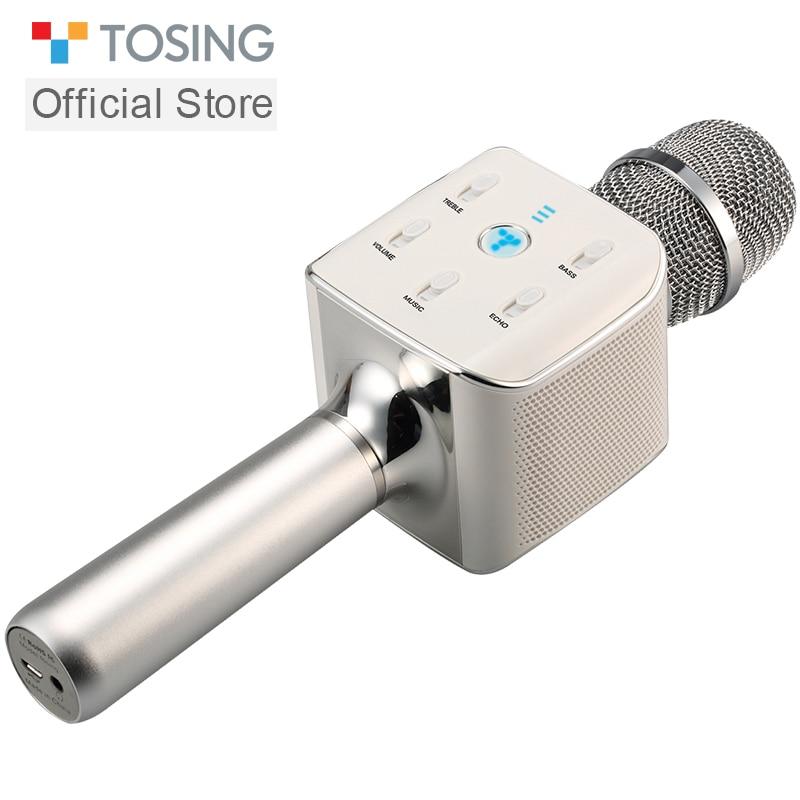 TOSING 02 Professional Kara OK Microphone Family Portable KTV Bluetooth Dual Speaker LED Breathing Light Smartphone