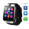 Heaspring bluetooth smart watch q18 sim apoio tf cartão nfc conexão câmera ios android whatsapp facebook relojes smartwatch