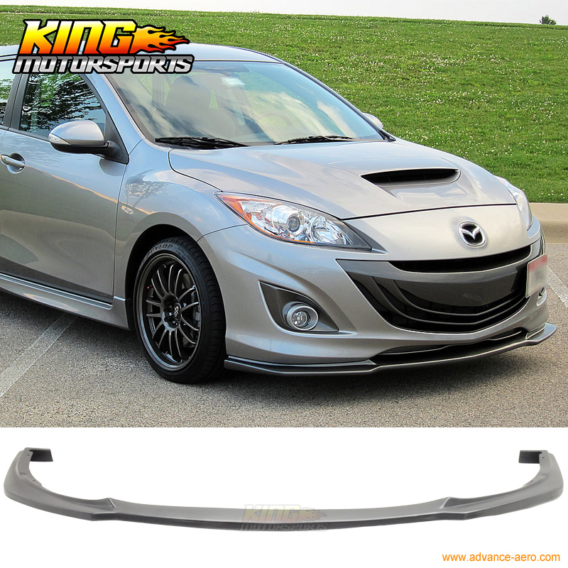 купить Fit 10-11 2010 Mazda 3 4Dr Poly-Urethane Front Bumper Lip Spoiler JDM PU Body Kit онлайн