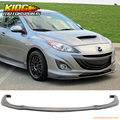 Fit 10-11 2010 Mazda 3 4Dr Poly-Urethane Front Bumper Lip Spoiler JDM PU Body Kit