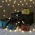 Ac220v 10 M 100 LED cereja bola de corda luzes para festa de natal cortina garland ao ar livre quarto casamento decotation