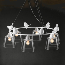 chandelier Sitting room droplight Nordic contracted bedroom modern creative fashion personality decoration restaurant bird