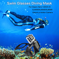 GoPro Accessories Silicone Swim Glasses Diving Mask for Xiaomi yi Action Camera Go Pro Hero 1/2/3/3+/4 SJCAM SJ4000/5000/6000