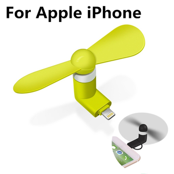 Creative Mini Portable Micro USB Fan 5v 1w Mobile Phone USB Gadget Fans Tester For Apple iphone 5 5s 5c se 6 6s 7 plus 8 X 1