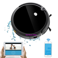 Mais novo Robot Vacuum Cleaner Com a Câmara  o Mapeamento de Memória de Navegação Inteligente  tanque de Água  Smartphone Wifi Controle de APP  bateria de lítio|Aspiradores de pó| |  -