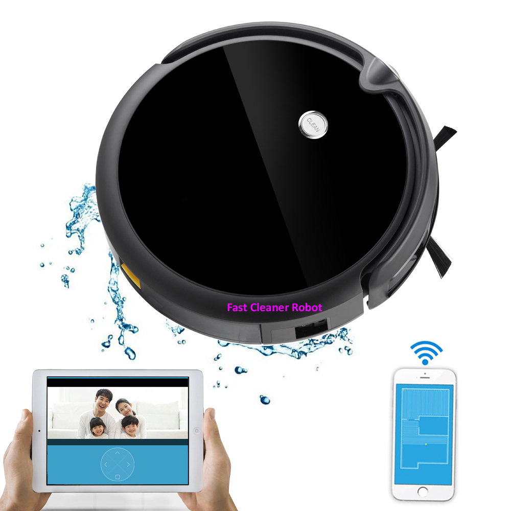 Newest Robot Vacuum Cleaner With Camera,Mapping,Smart Memory,Water tank,Smartphone Wifi APP Control,lithium battery