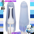 The Invader Comes From The Bottom Of The Sea! Squid Girl Ika Musume Cos 150cm Light Blue Heating Long Straight Cosplay WIG