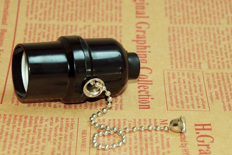 E26E27 бакелитовая лампа с выключателем-шнуром держатель UL лампа база Pull переключатель Настольный светильник-торшер лампа гнездо винт лампы основания 3 шт