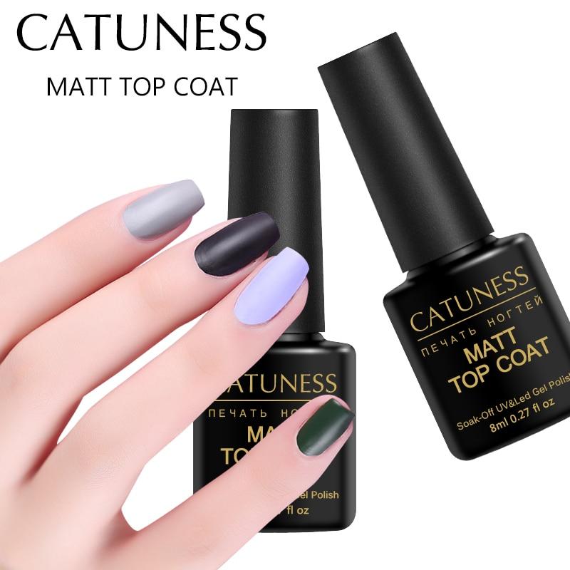 Matte Black Gel Nail Polish: Aliexpress.com : Buy CATUNESS Matte Top Coat Effect