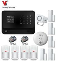 YobangSecurity WiFi GSM GPRS Home Security Alarm System Android IOS APP Control Door Window PIR Sensor Wireless Smoke Detector