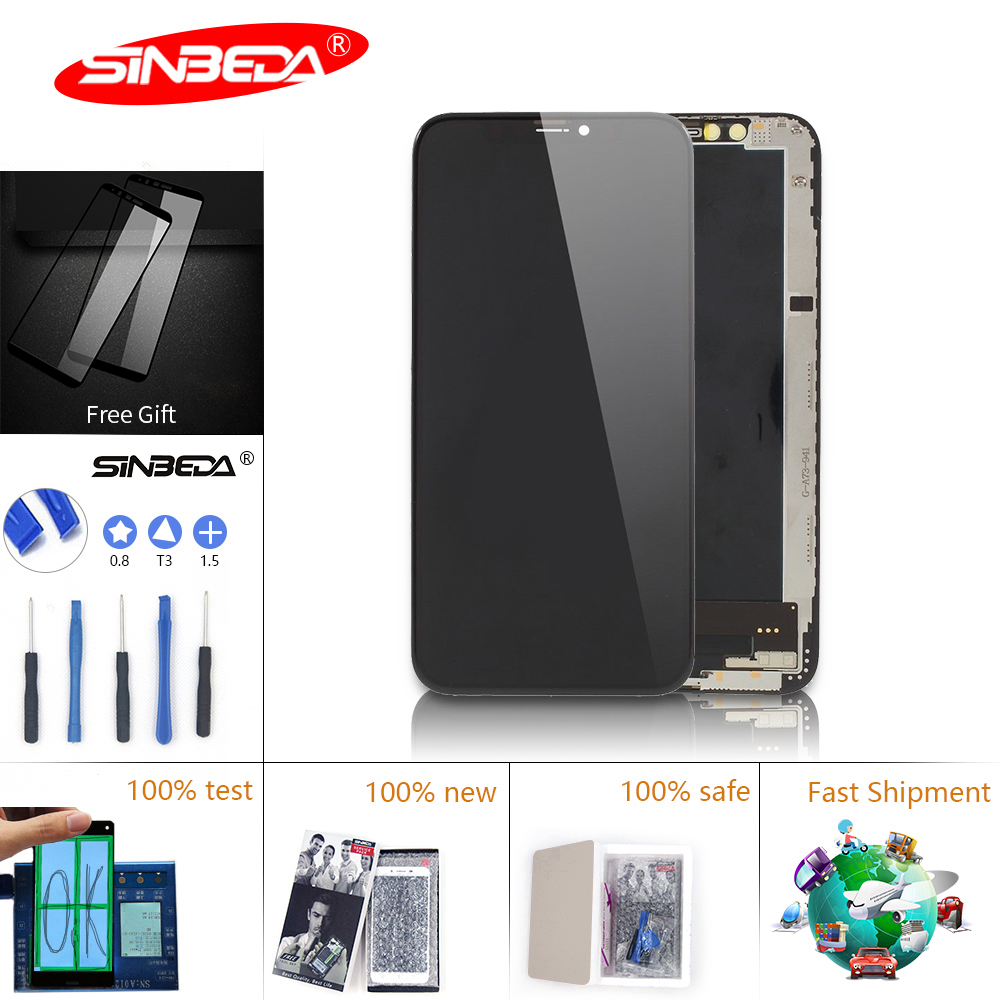 Sinbeda New Tianma AAA+ For iPhone X LCD Display IPhone XS Touch Screen Digitizer for