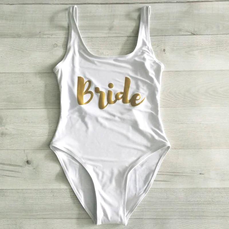 Beach Wear Bikini Bachelor Party Suit Bride Swimsuit One Piece Women Bathing Suit maillots de bain femmes Top Bodysuit Monokini Кормушка