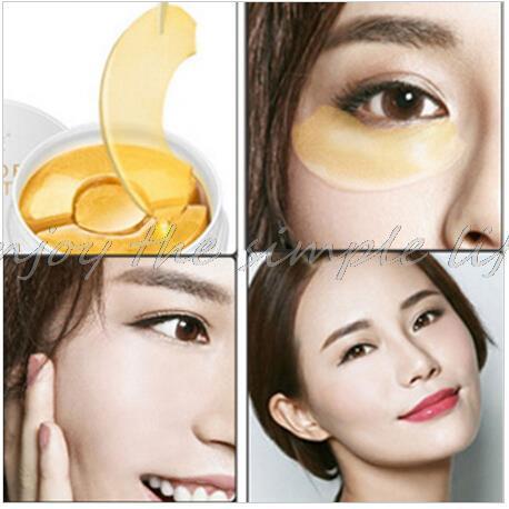 Nuevos Ojos Máscaras Cuidado de La Piel 90 UNIDS Negro Perla Máscara de Gel de Colágeno Crystal Eye Mask patch, ojeras, párpado Anti-arrugas, Humedad