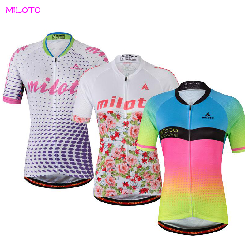 Cycling Team Women Short Sleeve Jersey Top Breathable Bike Wear Anti-sweat gore bike wear women s xenon lady jersey