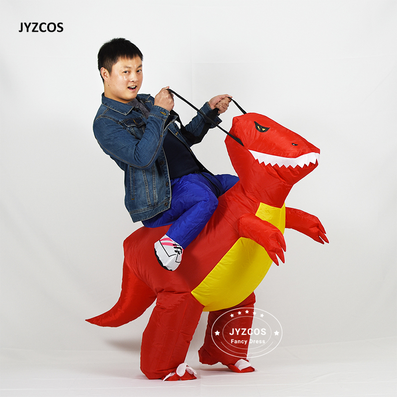Go Shopping For Best Price JYZCOS Purim Halloween Christmas Xmas Adult  Inflatable Dinosaur Costume Dragon Blow Up TRex Fancy Dress For Kids Party  Ride On.