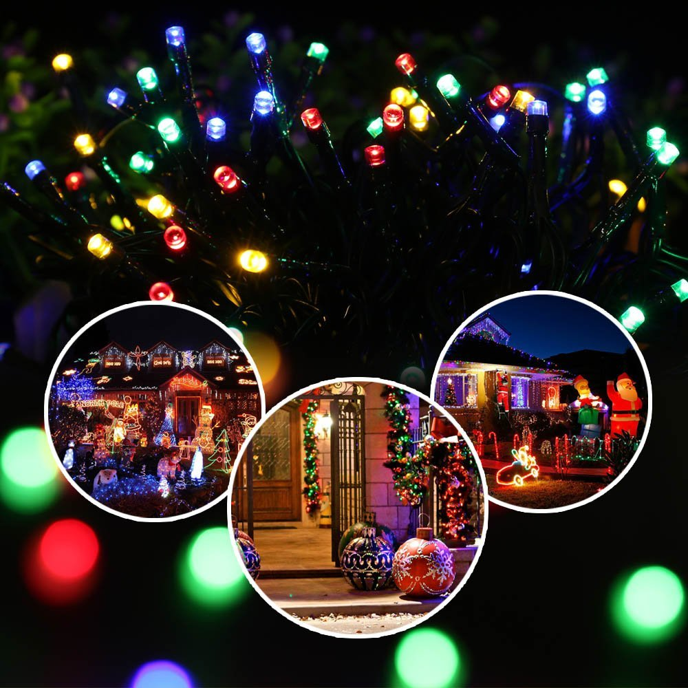 Outdoor Home Decoration String Lights Waterproof Solar Lights for garden decoration 200 led Path Wedding Patio Fairy Lights