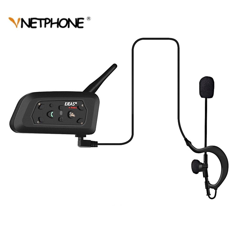 VNETPHONE V6C Interphone Casque Bluetooth Casque Moto Communication 6 Coureurs Interphone Haut-Parleur Full Duplex 1200 m MP3 GPS