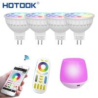 CCT HOTOOK Mi Światło WIFI Żarówka LED RGB (2700-6500 K) Lampa LED Inteligentne Światła Ściemniania MR16 GU10 4 WSpotlight 2.4G Zdalnego i APP Sterowania