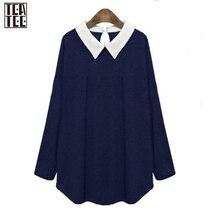 Blusa 2017 Long Sleeve Shirt Women Turn-down Collar Ladies Blouses Stitching Polo Shirt Blouse Camisa Korean Clothing Store Sale