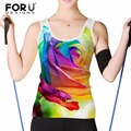 FORUDESIGNS Plus Size S-XXL Summer Sexy Clothes Women Tank Tops Loose Workout Sleeveless Quick Dry Vest Singlet Women T-shirt