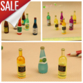 6Pcs Colorful Wine Bottles Dollhouse Miniature 1:12 Scale Classic Toys for Kids Scale Models