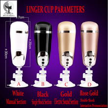 BED KUNGFU Aircraft Cup Male Masturbation Real Aircraft Cup Sex Electric Vagina Vibrating Masturbation Cup Hand Free Suction Cup
