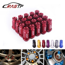 RASTP-20 Pcs Forged 7075-T6 Aluminum Wheel Lug Nuts Length 50mm M12x1.5/M12x1.25 for Honda Civic Car Accessory RS-LN047