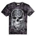 2017 nova compressão camisa de t dos homens 3d crânio capitão américa superman camisetas justas casual mens shirts marca clothing