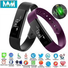цена на Smart Bracelet ID115 Fitness Tracker Smart Bracelet Pedometer Bluetooth Smartband Waterproof Sleep Monitor Wrist Watch