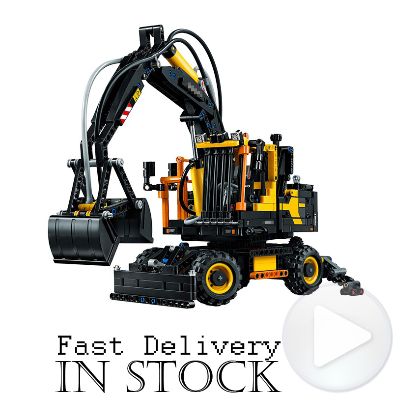 In Stock Lepin Technic 20023 1166Pcs The CONSTRUCTION Excavator Set Building Blocks Bricks Toys for kids Model Compatible 42053 lepin 20031 technic the jet racing aircraft 42066 building blocks model toys for children compatible with lego gift set kids