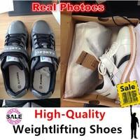Good quality powerlifting shoes Grey men's GYM Fitness Weight lifting shoes Weightlifting cross Training sneaker sport equipment