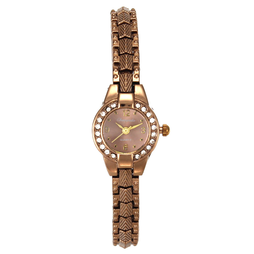 Luxury Womens Fashion Rose Gold Brown Crystal Bracelet Quartz Watches Ladies Casual Chain Necklace Analog Wrist WatchLuxury Womens Fashion Rose Gold Brown Crystal Bracelet Quartz Watches Ladies Casual Chain Necklace Analog Wrist Watch